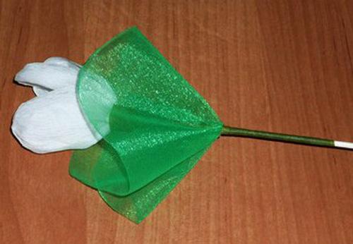 Конфетный букет Подснежники