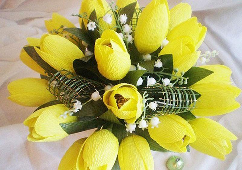 Весенний букет из конфет Тюльпаны